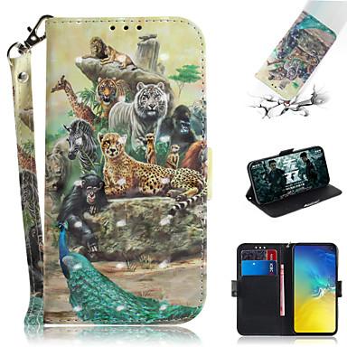 voordelige Galaxy S-serie hoesjes / covers-hoesje Voor Samsung Galaxy S7 edge / S7 / Galaxy S10 Portemonnee / Kaarthouder / met standaard Volledig hoesje dier / 3D Cartoon PU-nahka