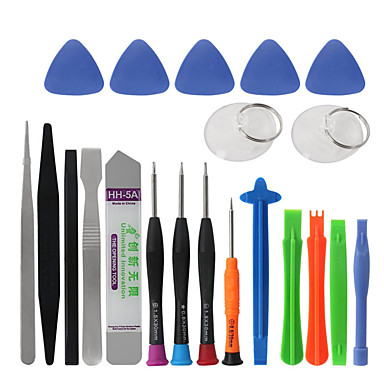billige Reparationsværktøj og reservedele-20 i 1 mobiltelefon reparationsværktøj kit spudger pry åbningsværktøj