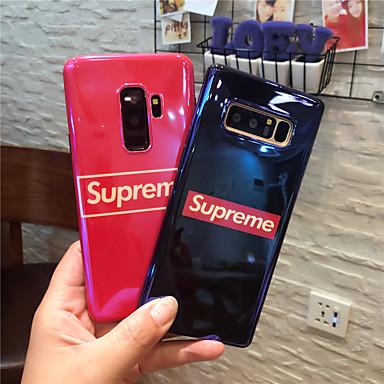 Недорогие Чехлы и кейсы для Galaxy Note-Кейс для Назначение SSamsung Galaxy Note 9 / Note 8 IMD / С узором Кейс на заднюю панель Слова / выражения Мягкий ТПУ