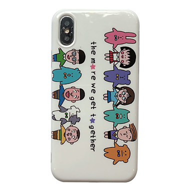 voordelige iPhone-hoesjes-hoesje Voor Apple iPhone XS / iPhone XR / iPhone XS Max IMD / Patroon Achterkant Cartoon TPU