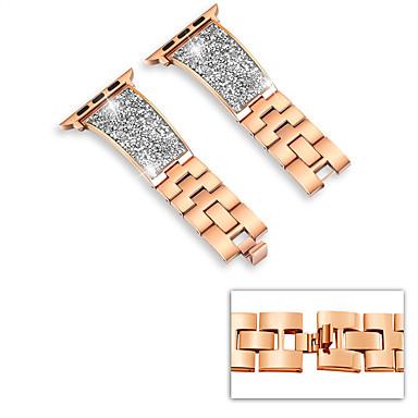 voordelige Smartwatch-accessoires-Horlogeband voor Apple Watch Series 5/4/3/2/1 Apple Milanese lus Roestvrij staal Polsband