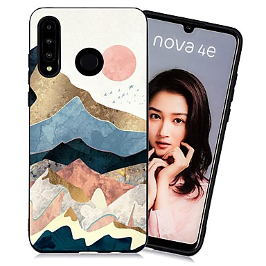 رخيصةأون أغطية-غطاء من أجل Huawei Huawei P20 / Huawei P20 Pro / Huawei P20 lite ضد الصدمات / مثلج / نموذج غطاء خلفي منظر TPU