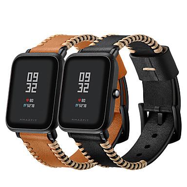 olcso Nézd Zenekarok Xiaomi-Nézd Band mert Huami Amazfit Bip Younth Watch Xiaomi Sportszíj / Hagyományos csat Valódi bőr Csuklópánt