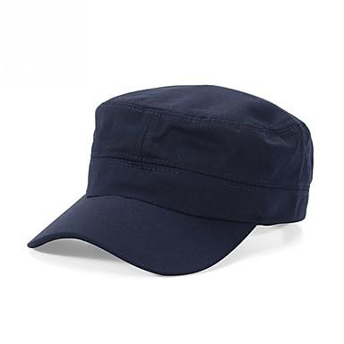お買い得  メンズアクセサリー-東guan fq1by_arjkr2018新デニムウォッシュコットンミリタリーキャップ男性と女性屋外軍事訓練太陽帽子韓国トレンドフラットキャップ卸売アーミーグリーンfavolook