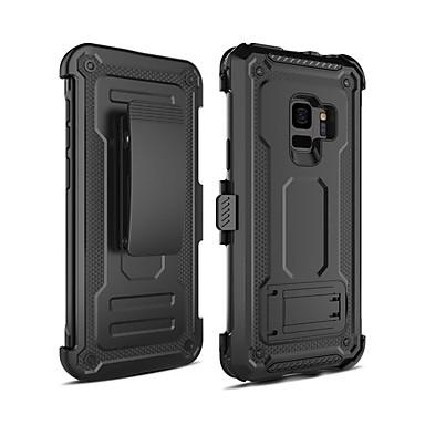 voordelige Galaxy S-serie hoesjes / covers-hoesje Voor Samsung Galaxy S9 Schokbestendig / met standaard Achterkant Schild PC
