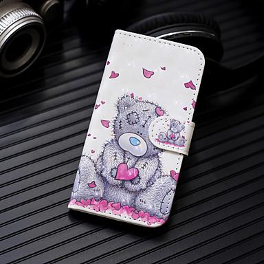 voordelige Galaxy A-serie hoesjes / covers-hoesje Voor Samsung Galaxy Galaxy A7(2018) / A3 (2017) / A5 (2017) Portemonnee / Kaarthouder / met standaard Volledig hoesje dier Hard PU-nahka
