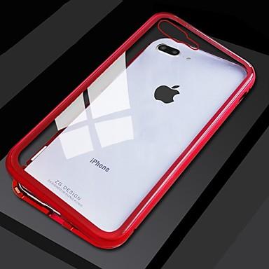 Недорогие Кейсы для iPhone-односторонний магнитный чехол для телефона Apple iphone xs / iphone xr / iphone xs max пыленепроницаемый / прозрачный / резервный чехол для всего тела одноцветное закаленное стекло / металл / алюминий