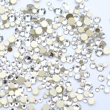 1200pcs / pack diy dijamant rezanje kristalno noktiju 3d flatback noktiju vještački dijamant ukrasi noktiju 15 boja