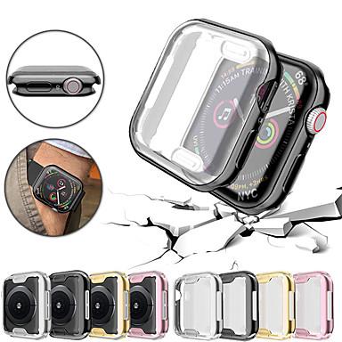 voordelige Smartwatch-hoezen-ultradunne plating TPU beschermende bumper hoes voor apple watch serie 4/3/2/1 40/44/38 / 42mm