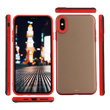 voordelige iPhone 6 Plus hoesjes-hoesje Voor Apple iPhone XS / iPhone XR / iPhone XS Max Mat / Transparant Achterkant Effen / Transparant Hard PC