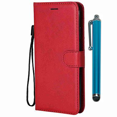 Недорогие Чехлы и кейсы для Galaxy А-Кейс для Назначение SSamsung Galaxy S9 / S9 Plus / S8 Plus Кошелек / Бумажник для карт / со стендом Чехол Однотонный Кожа PU / ТПУ
