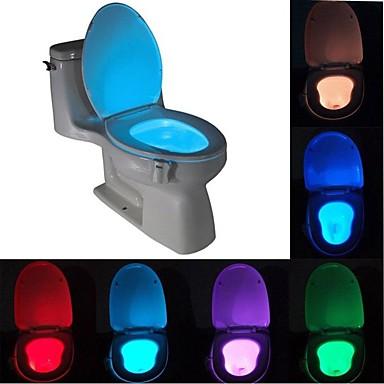 economico LED e illuminazione-brelong 1 pz 8 colori sensore di movimento umano pir toilette luce notturna