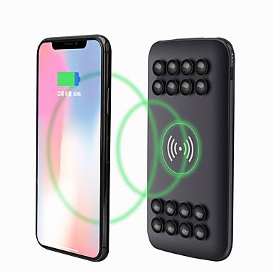olcso Külső akkumulátorok-qi vezeték nélküli 20000mah power bank 2 usb biztonsági akkumulátor töltő mobiltelefonhoz