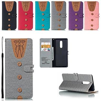 Недорогие Чехлы и кейсы для Sony-Кейс для Назначение Sony Sony Xperia XZ3 / Xperia XZ2 Compact / Xperia XZ2 Бумажник для карт / Защита от удара / со стендом Чехол Геометрический рисунок Твердый холст