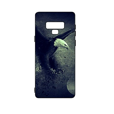 Недорогие Чехлы и кейсы для Galaxy Note-Кейс для Назначение SSamsung Galaxy Note 9 Защита от удара / Матовое / С узором Кейс на заднюю панель Животное ТПУ
