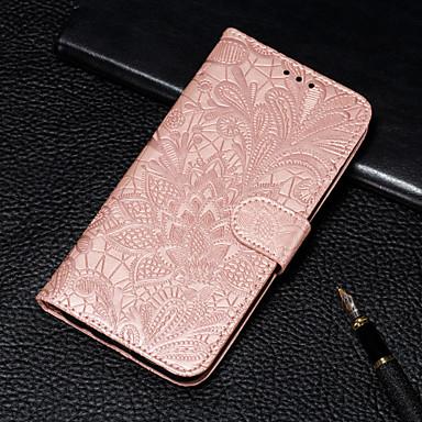 Недорогие Чехлы и кейсы для LG-Кейс для Назначение LG LG V40 / LG Stylo 4 / LG Stylo 5 Кошелек / Бумажник для карт / со стендом Чехол Цветы Твердый Кожа PU