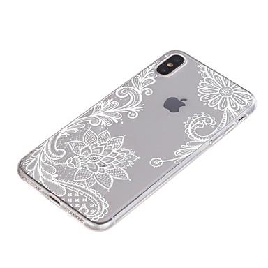 رخيصةأون أغطية أيفون-غطاء من أجل Apple iPhone XS / iPhone XR / iPhone XS Max ضد الصدمات / شفاف / نموذج غطاء خلفي زهور ناعم TPU