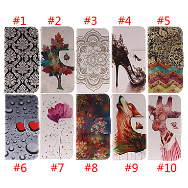 cheap iPhone Cases-Case For Apple iPhone XS / iPhone XR / iPhone XS Max Card Holder / Shockproof Full Body Cases Animal / Flower Soft PU Leather