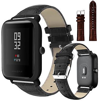 Недорогие Аксессуары для смарт-часов-Ремешок для часов для Huami Amazfit Bip Younth Watch Xiaomi Спортивный ремешок / Классическая застежка Натуральная кожа Повязка на запястье