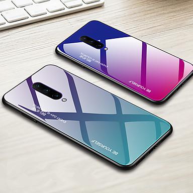 رخيصةأون حالات / أغطية ون بلس-غطاء من أجل OnePlus OnePlus 6 / One Plus 6T / واحد زائد 7 ضد الصدمات غطاء خلفي لون متغاير قاسي TPU / زجاج مقوى