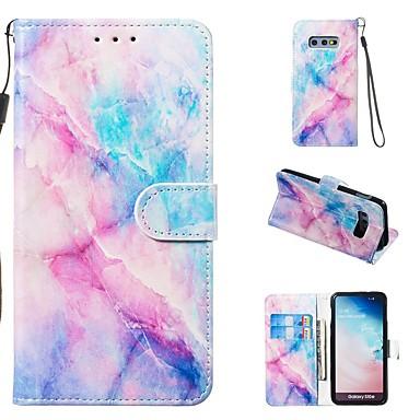 Недорогие Чехлы и кейсы для Galaxy S-Кейс для Назначение SSamsung Galaxy S9 / S9 Plus / S8 Plus Кошелек / Бумажник для карт / со стендом Чехол Мрамор Твердый Кожа PU