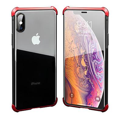 voordelige iPhone-hoesjes-hoesje Voor Apple iPhone XS / iPhone XR / iPhone XS Max Schokbestendig / Transparant Achterkant Effen Hard Gehard glas / Aluminium