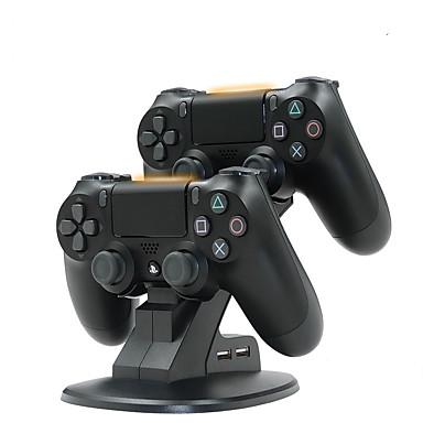 olcso Okostelefon-játék tartozékok-kettős usb töltőállomás állomás bölcsője a Sony Playstation számára 4 ps4 pro / ps4 slim