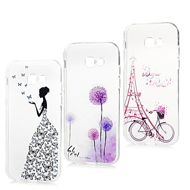 voordelige Galaxy A5 Hoesjes / covers-hoesje voor Samsung Galaxy A5 Ultradun / Transparant / Patroon Achterkant Cartoon Soft TPU