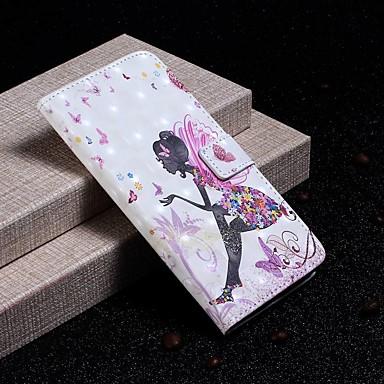 Недорогие Чехлы и кейсы для Galaxy S-Кейс для Назначение SSamsung Galaxy S9 / S9 Plus / S8 Plus Кошелек / Бумажник для карт / Защита от удара Чехол Соблазнительная девушка Твердый Кожа PU