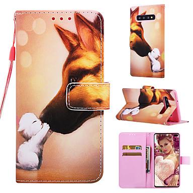 voordelige Galaxy S-serie hoesjes / covers-hoesje Voor Samsung Galaxy S9 / S9 Plus / S8 Plus Portemonnee / Kaarthouder / met standaard Volledig hoesje dier Hard PU-nahka