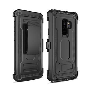 voordelige Galaxy S-serie hoesjes / covers-hoesje Voor Samsung Galaxy S9 Plus Schokbestendig / met standaard Achterkant Schild PC