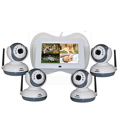 olcso IP kamerák-Factory OEM® 0.3 mp Baba monitor CMOS 360 ° ° C Éjjellátó tartomány 5 m 0 GHz