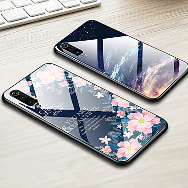 Недорогие Чехлы и кейсы для Xiaomi-витраж чехол для телефона xiaomi mi 9 mi 8 lite mi 8 mi 6x mi 5x mi a2 mi a1 глянцевое закаленное стекло твердый переплет край тпу