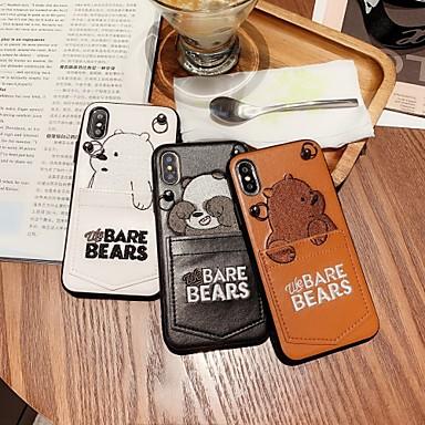 voordelige iPhone 7 Plus hoesjes-hoesje Voor Apple iPhone XS / iPhone XR / iPhone XS Max Schokbestendig / Stofbestendig / Waterbestendig Volledig hoesje dier / Panda Hard silica Gel