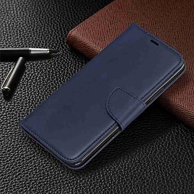 Недорогие Чехлы и кейсы для Xiaomi-Кейс для Назначение Xiaomi Xiaomi Redmi 6 Pro / Xiaomi Redmi Note 7 / Xiaomi Redmi 7 Кошелек / Бумажник для карт / со стендом Чехол Однотонный Твердый Кожа PU