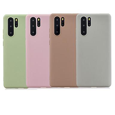 رخيصةأون Huawei أغطية / كفرات-غطاء من أجل Huawei Huawei P20 / Huawei P20 Pro / Huawei P20 lite مثلج غطاء خلفي لون سادة TPU