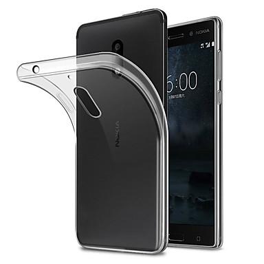 Недорогие Чехлы и кейсы для Nokia-Кейс для Назначение Nokia Nokia 7 / Nokia 6 Защита от пыли Кейс на заднюю панель Однотонный Мягкий ТПУ