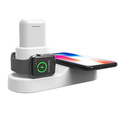 voordelige Smartwatch-accessoires-3 in 1 draadloze oplader us plug eu-stekker met kabelmagneethouder multifunctionele draadloze oplader voor airpods smartwatch mobiele telefoon voor iphone 11 11pro 11pro max xs xs max xr x apple watch