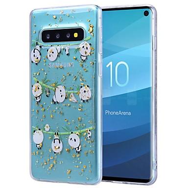 Недорогие Чехлы и кейсы для Galaxy S-Кейс для Назначение SSamsung Galaxy S9 / S9 Plus / Galaxy S10 Защита от удара / Прозрачный / С узором Кейс на заднюю панель Панда Мягкий ТПУ