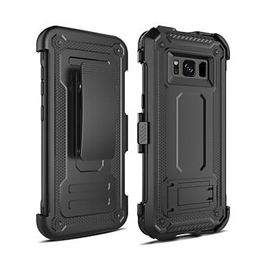 voordelige Galaxy S-serie hoesjes / covers-hoesje Voor Samsung Galaxy S8 Schokbestendig / met standaard Achterkant Schild PC