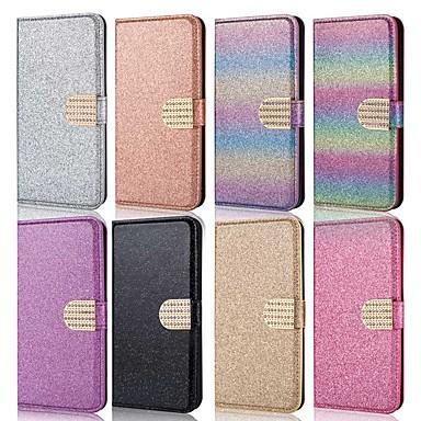 ราคาถูก เคสและซองสำหรับ Galaxy A Series-Case สำหรับ Samsung Galaxy A5(2018) / A6 (2018) / A6+ (2018) Wallet / Card Holder / Shockproof ตัวกระเป๋าเต็ม Glitter Shine Hard หนัง PU