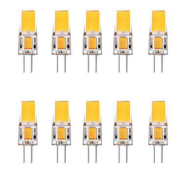 Недорогие Светодиодные электролампы-10 шт. 2.5 W Двухштырьковые LED лампы 3000 lm G4 1 Светодиодные бусины Тёплый белый Белый 12 V