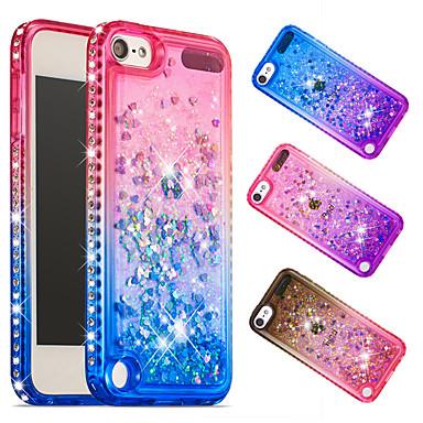 voordelige iPhone 7 hoesjes-hoesje Voor Apple iPhone XS / iPhone XR / iPhone XS Max Schokbestendig / Strass / Stromende vloeistof Achterkant 3D Cartoon / Glitterglans / Kleurgradatie Zacht TPU