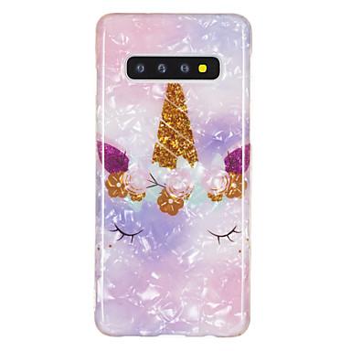 voordelige Galaxy S-serie hoesjes / covers-hoesje Voor Samsung Galaxy Galaxy S10 / Galaxy S10 Plus / Galaxy S10 E IMD / Patroon Achterkant Cartoon / Marmer TPU