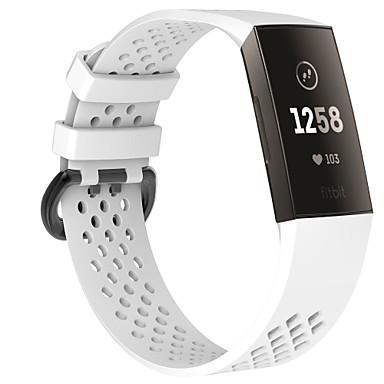 Недорогие Аксессуары для смарт-часов-Ремешок для часов для Fitbit Charge 3 Fitbit Классическая застежка силиконовый Повязка на запястье