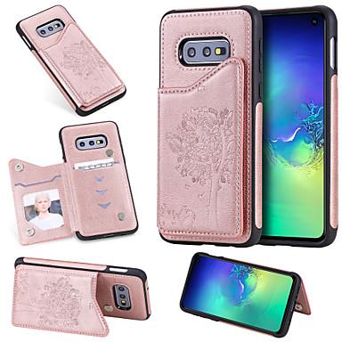 voordelige Galaxy S-serie hoesjes / covers-hoesje Voor Samsung Galaxy S9 / S9 Plus / S8 Plus Kaarthouder / Schokbestendig / met standaard Achterkant Kat / Boom Hard PU-nahka