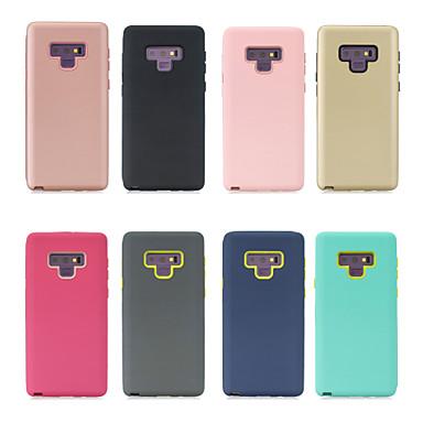Недорогие Чехлы и кейсы для Galaxy Note-Кейс для Назначение SSamsung Galaxy Note 9 / Note 8 Матовое Кейс на заднюю панель Однотонный Твердый ПК
