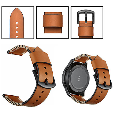 povoljno Watch Bands for LG-Pogledajte Band za LG G Watch W100 / LG G Watch R W110 / LG Watch Urbane W150 LG Sportski remen / Klasična kopča Prava koža Traka za ruku