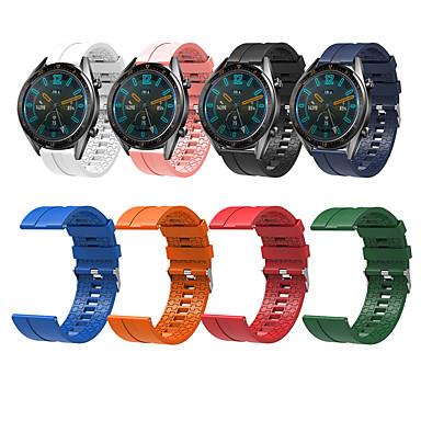 voordelige Smartwatch-accessoires-Horlogeband voor Huawei Watch GT / Watch 2 Pro Huawei Sportband / Klassieke gesp Silicone Polsband