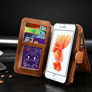 Недорогие Кейсы для iPhone 7-Кейс для Назначение Apple iPhone 11 / iPhone 11 Pro / iPhone 11 Pro Max Кошелек / Бумажник для карт / Флип Чехол Однотонный Кожа PU
